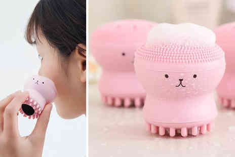 My Blu Fish - Cute octopus silicone facial cleansing brush choose from six colours - Save 0%