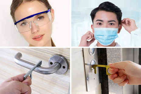 Arthur Gold - Facemask, glasses and door opener bundle - Save 0%