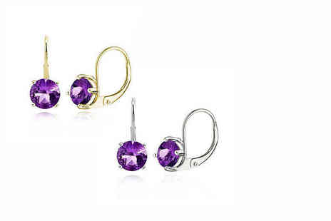 Evoked Design - Pair of amethyst earrings choose from two colours - Save 0%