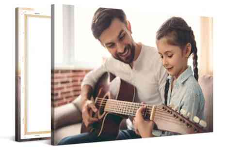 Photo Gifts - Four Personalised Canvas Prints - Save 76%