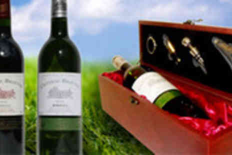 MoneySupermarket Deals - Fine wine and accessories presented in an elegant wooden gift box - Save 48%