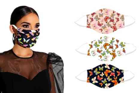 Groupon Goods Global GmbH - Reusable Butterfly Face Masks - Save 0%