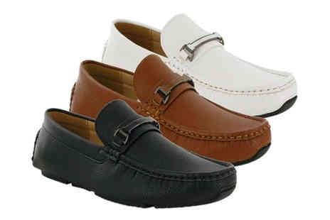 Shoe Fest - Pair of mens faux leather loafers choose from three colours - Save 0%