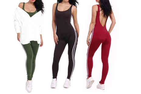 Boni Caro - Womens sporty backless jumpsuit choose from three colours - Save 71%