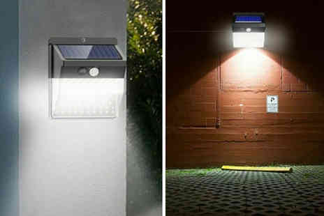Arthur Gold - 136 Led solar powered security light - Save 62%