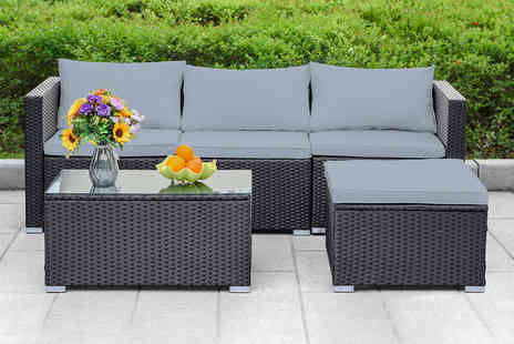 Direct Sourcing Project - Five piece rattan corner furniture set - Save 49%