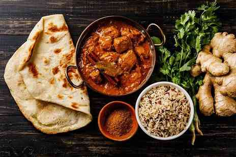 Bombay Lounge - Two course Indian dining for two people with a starter, main and rice or naan each - Save 52%