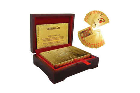 London Exchain Store - Gold plated 24k playing cards - Save 78%