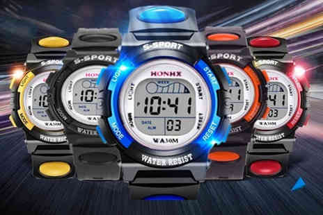 Arthur Gold - Digital Led waterproof sports watch choose your colour - Save 53%