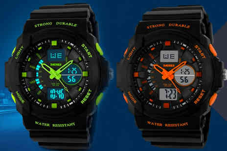 Arthur Gold - Unisex waterproof sports watch choose from five colours - Save 52%