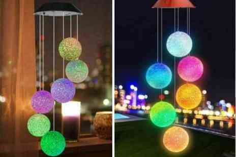 Arthur Gold - Solar Led colour changing wind chime - Save 25%