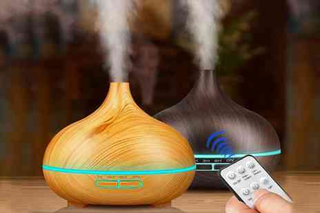 hey4beauty - 500ml essential oil diffuser and humidifier with remote control - Save 56%