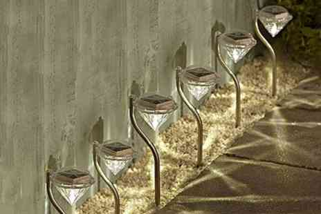 Groupon Goods Global GmbH - Six Packs of White or Colour Changing Led Solar Diamond Stake Lights - Save 0%