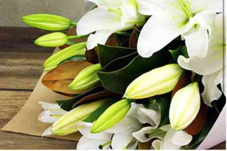 Virgin Experience Days - Hand Tied Bunch of Oriental Lilies with Personalised Message - Save 0%