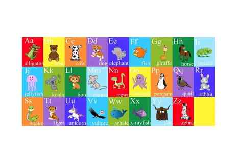Colour House - Kids animal alphabet canvas - Save 73%