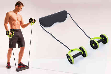 Arthur Gold - Dual resistance band and abdominal rollers set - Save 58%