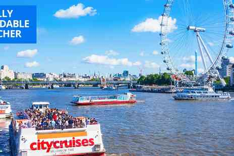 City Cruises PLC - 24 hour hop on, hop off Thames river cruise ticket - Save 46%