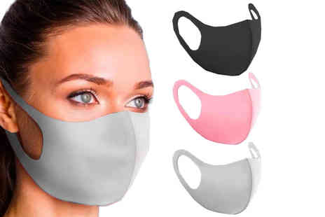 Boni Caro - Four Reusable face masks choose from three colours - Save 0%