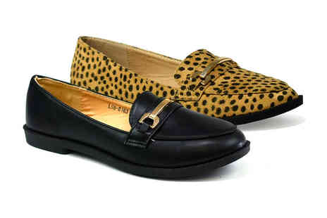 Shoe Fest - Pair of Tilly loafers choose from two colours - Save 0%