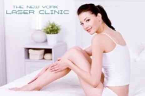 The New York Laser Clinic - Laser Hair Removal Six Treatments on Two Medium Areas Including Extended Bikini - Save 69%