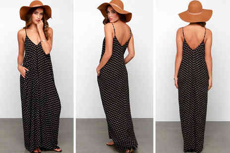 Blu Fish - Polka dot maxi dress - Save 0%