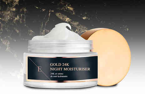 Eclat Skin London - One tub of 24k gold night moisturiser - Save 78%