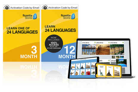 Rosetta Stone - Three months of access to learn one language - Save 41%