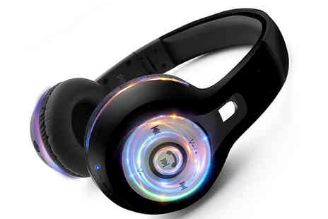 Ebeez - AQ Bluetooth Light Up Headphones - Save 50%