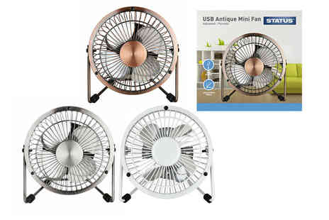 Avant Garde Brands - Four inch Status portable metal USB mini fan - Save 0%