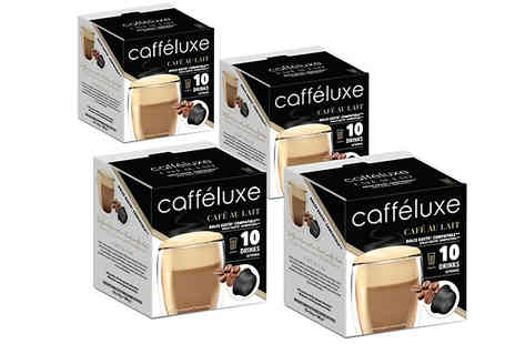 Caffeluxe - 40 Pack of Dolce Gusto Compatible Coffee Pods 4 Drink Varieties - Save 26%