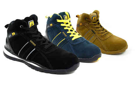 Shoe Fest - Pair mens safety shoes, choose from three colours - Save 0%