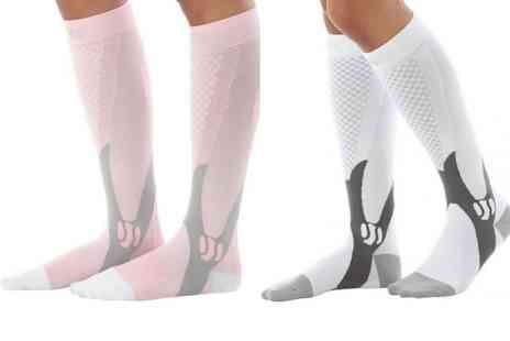 HONGKONG HUALIANDA - Knee high running compression socks - Save 60%