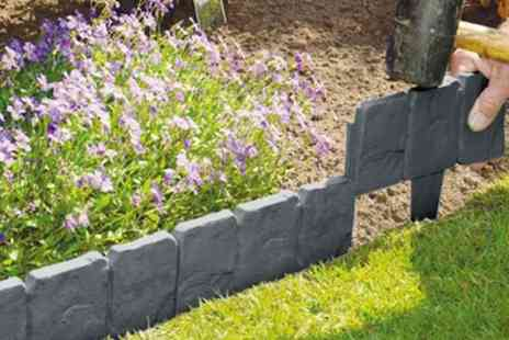 Groupon Goods Global GmbH - 10-, 20, 30 or 40 Pack of Cobbled Stone Effect Garden Edging - Save 0%