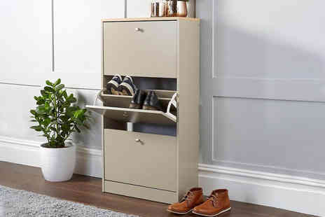 Furniture Deals - Dorset grey shoe cabinet - Save 0%