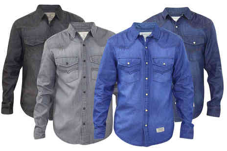 True Face - Mens denim look shirt - Save 64%