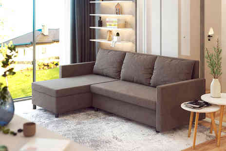 Selsey - Selefer minimalist corner sofa choose from five colours - Save 32%
