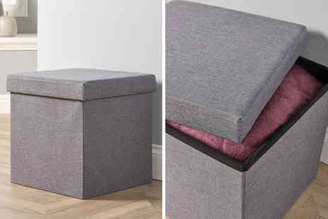 Furniture Deals - Fabric folding square ottoman choose your colour - Save 0%