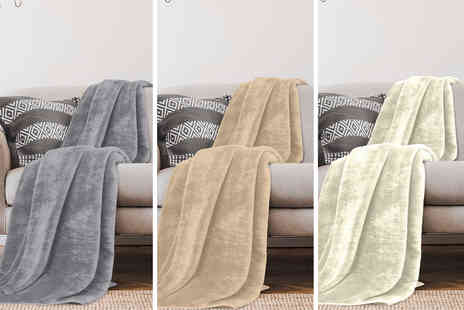Victoria Home Living - Mink faux fur throw snuggle up at home - Save 0%