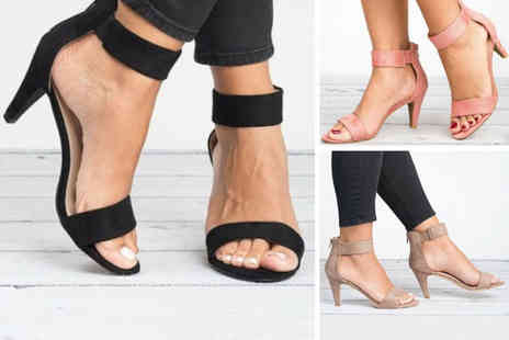 hey4beauty - Pair of ankle strap kitten heels choose from five colours - Save 0%