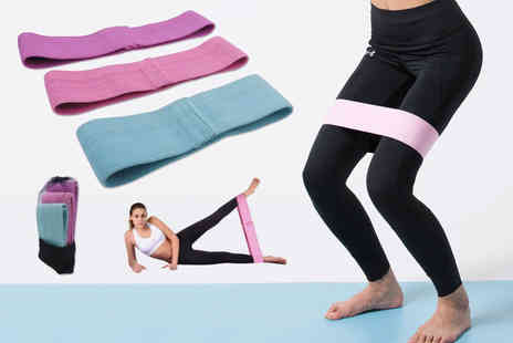 Magic Trend - Pack of three fabric resistance bands - Save 0%