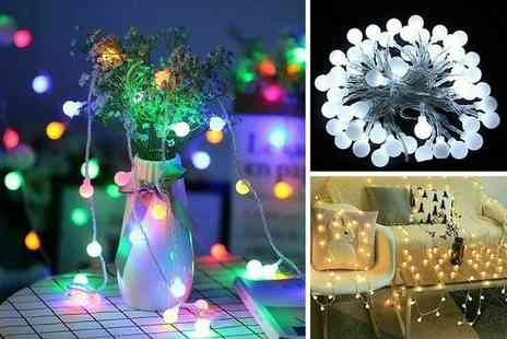 MBLogic - Set of 3m string lights choose from three colours - Save 83%