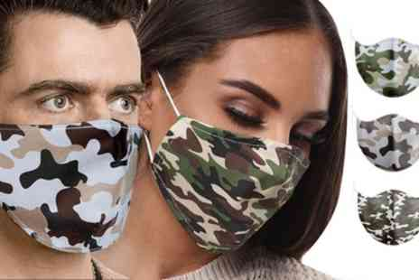 Groupon Goods Global GmbH - 20 Camouflage Print 100% Cotton Face Masks - Save 0%