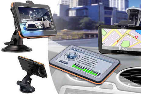 Bag a Bargain - HD Car Sat Nav with UK and European Maps - Save 77%