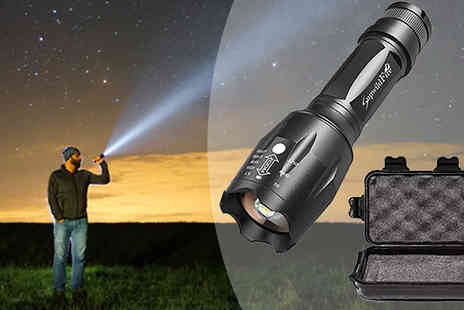 Bag a Bargain - 1km Military Grade Flashlight and 5pc Accessory Box - Save 67%