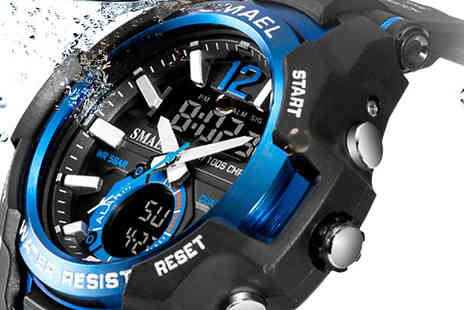 Bag a Bargain - SMAEL Water Resistant Digital Military Watch - Save 70%