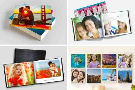 Printerpix - 50 photo prints an A5 hardcover photobook - Save 89%