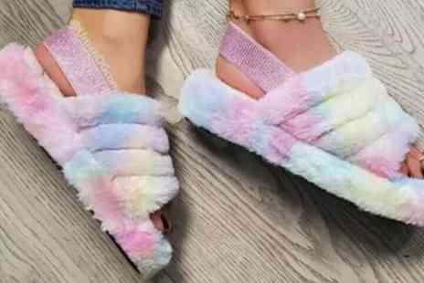 Groupon Goods Global GmbH - Womens Fluffy Sandals - Save 0%