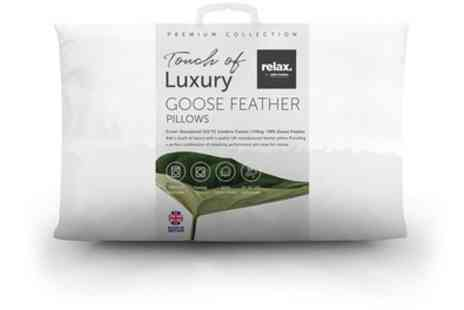 Groupon Goods Global GmbH - Goose Feather Pillows - Save 10%