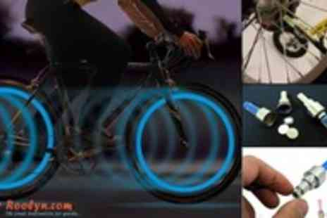 Roolyn - Stay Safe at Night on your Bike with This Pack of 2 LED Flashing Bike Lights - Save 90%