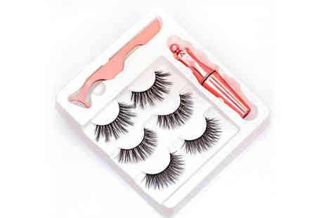 PinkPree - Magnetic eyelashes and eyeliner kit - Save 63%